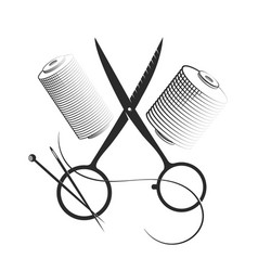 sewing and cutting set vector image