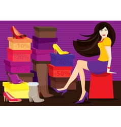 Shoe shop vector