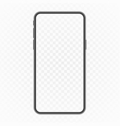 smartphone blank screen vector image