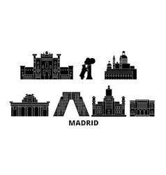 spain madrid flat travel skyline set spain vector image