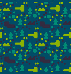 Stranger landscape abstract seamless pattern vector