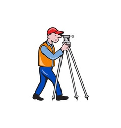 Surveyor Geodetic Engineer Theodolite Isolated vector