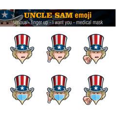 Uncle sam emoji - serious - index finger up - i vector
