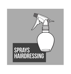 Unlabeled transparent plastic hairdresser spray vector