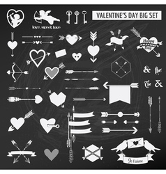 Valentines Day Set - on chalk boarder vector