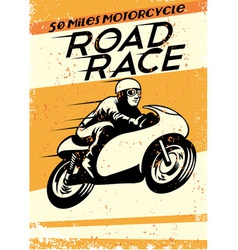 Vintage motorcycle racing poster vector