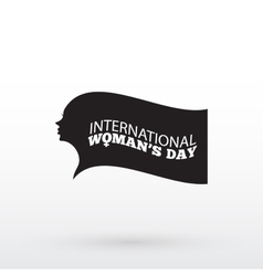 Womans day design Silhouette vector image