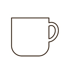 Beverage glass for hot drinks icon vector image