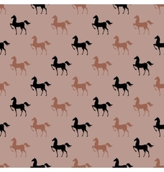Colorful seamless pattern with horse vector