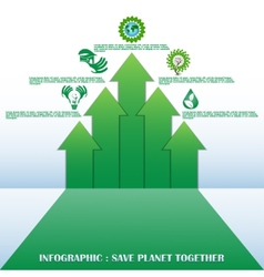 Ecology concept with design vector image vector image