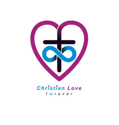 everlasting christian love and true belief in god vector image vector image