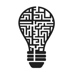light bulb maze vector image vector image
