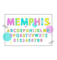memphis english alphabet vector image vector image
