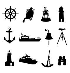 nautical set vector image