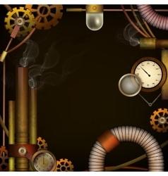 Steam punk background vector image