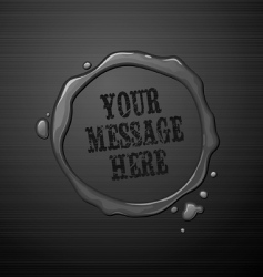 water round frame vector image vector image