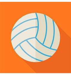 Flat sports ball volleyball with long shadow vector