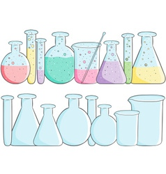 laboratory test tubes vector image