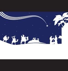nativity scene monocrome vector image