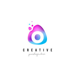 o letter dots logo design with oval shape vector image vector image