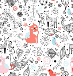 texture of funny cats and fabulous animals vector image vector image