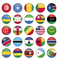 Africa Flags Round Buttons vector image vector image