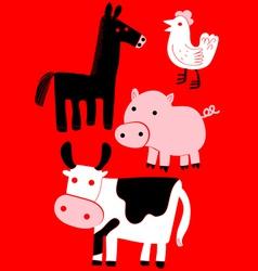 animal farm set vector image vector image