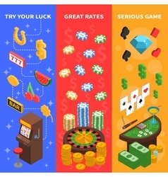 Casino Isometric Vertical Banners vector image vector image