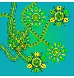 Futuristic floral ornament vector image