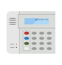 Gray office phone fax communication technology vector image