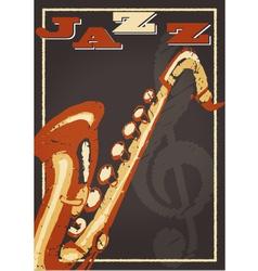 Jazz poster vector image vector image