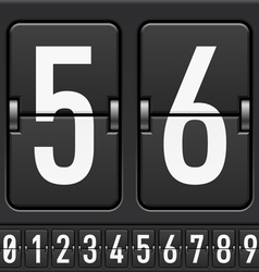 Mechanical Scoreboard Numbers vector image