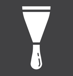 Putty knife glyph icon build and repair spatula vector