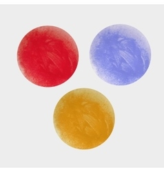 Round multi-colored spots the texture of acrylic vector