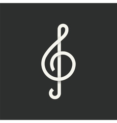 Treble Clef Abstract Symbol Icon vector image