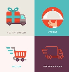 abstract logo design templates in flat style vector image vector image