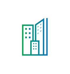 abstract skyscraper business logo vector image vector image
