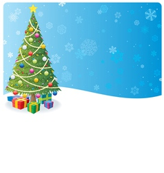 christmas tree background 1 vector image vector image