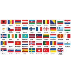 European flags icons vector image