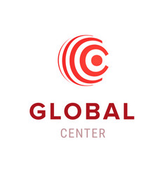global center creative company logo template icon vector image