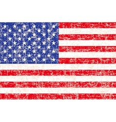 grunge American flag background vector image