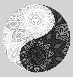 shape of symbol yin yang vector image