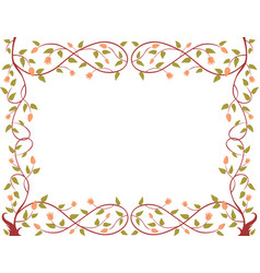 A decorative framework from a flowewring tree vector