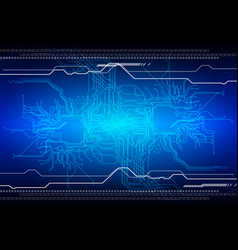 abstract futuristic circuit board technology vector image