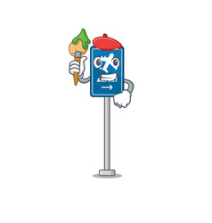 Artist airport sign isolated with mascot vector