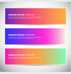 banners or headers with trendy bright gradient vector image
