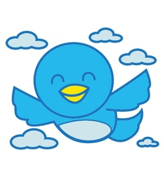 Bird Happy vector