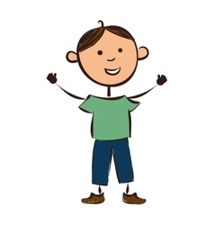 boy smile child vector image