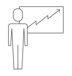 businessman presentation board success arrow vector image