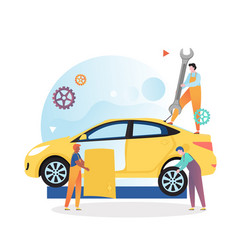 Car mechanic and repair shop concept for vector
